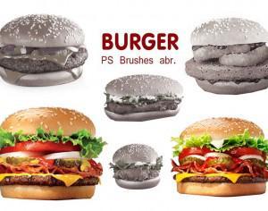 20 Burger PS Brushes abr. vol.3 Photoshop brush