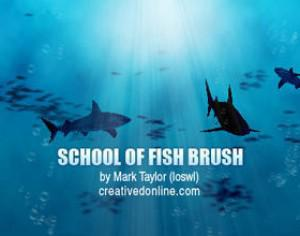 School of Fish Brush Set Photoshop brush
