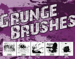 5 Hi-Res Grunge Brushes Photoshop brush