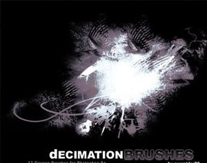 Decimation Brushes Photoshop brush