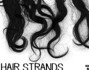 Hair Strands Photoshop brush