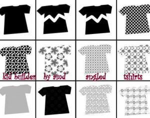 angled tshirts for kid builder series Photoshop brush