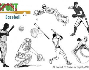 Baseball Ps Brushes abr Photoshop brush