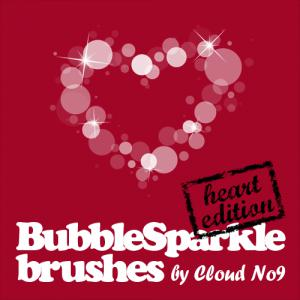 BubbleSparkle Heart Brushes Photoshop brush