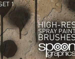 Hi-Res Spraypaint Photoshop Brushes-Set One Photoshop brush