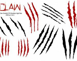 20 Claw Scratch PS Brushes ABR.  vol.3 Photoshop brush