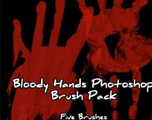 Bloody Hands Photoshop brush