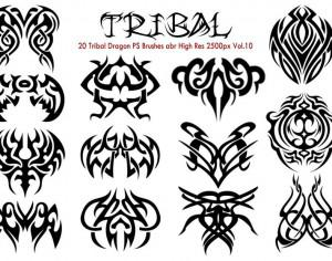 20 Tribal PS Brushes abr Vol.10 Photoshop brush