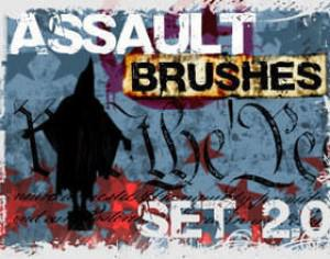 Assault Grunge Brush Set Photoshop brush
