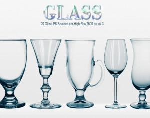 20 Glass PS Brushes abr.vol.3 Photoshop brush