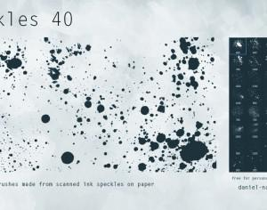40 Speckles Free PS Brushes Photoshop brush