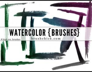 Watercolor Corner Brush Pack Photoshop brush