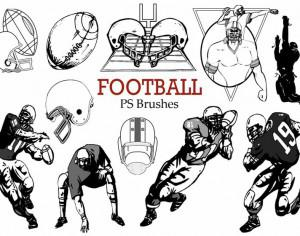 20 Football Ps Brushes abr.  Photoshop brush