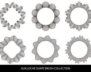 Guilloche Shape Brushes Photoshop brush