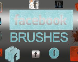 Facebook Logo Brush Pack Photoshop brush