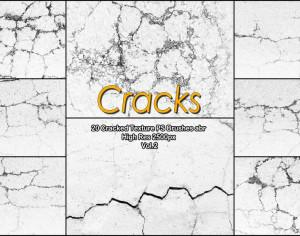 20 Cracked Concrete PS Brushes abr. vol.2 Photoshop brush