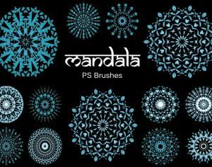 20 Mandala PS Brushes abr. vol.8 Photoshop brush