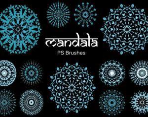20 Mandala PS Brushes abr. vol.8 Photoshop brush