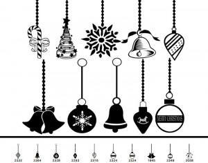 14 Christmas Ornament Brushes Photoshop brush