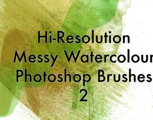 Messy Watercolors V2 Photoshop brush