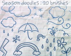 Season Doodles Brushes Photoshop brush