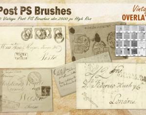 Vintage Post PS Brushes abr. Photoshop brush