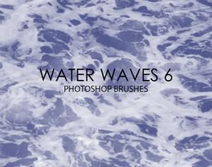Free Water Waves Photoshop Brushes 6 Photoshop brush