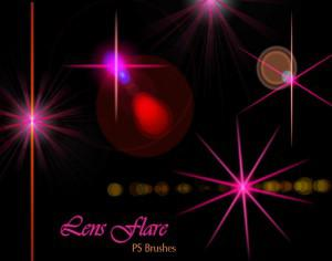 20 Lens Flares PS Brushes abr vol.12 Photoshop brush