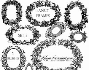 Fancy Frames set 3 Photoshop brush