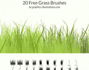20 Free Grass Brushes Photoshop brush