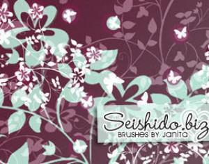 FREE Seishido.biz Flower Brushes  Photoshop brush