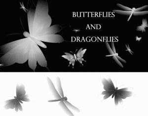 Butterflies and Dragonflies Photoshop brush