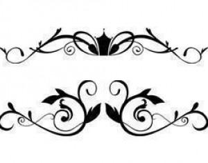Free Floral Ornamental Border Brushes Photoshop brush