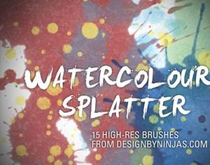 Watercolour Splatter Photoshop brush