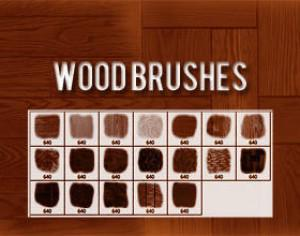 Wood Brushes Photoshop brush