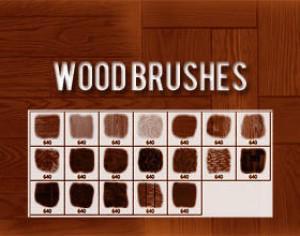 Wood Brushes Photoshop brush