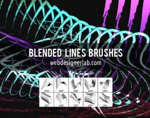 Blended Lines Brushes Photoshop brush