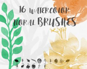 Watercolor Floral Brushes Photoshop brush