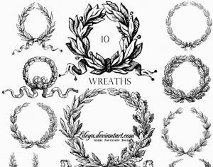 Wreaths Photoshop brush