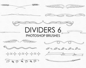 Free Hand Drawn Dividers Photoshop Brushes 6 Photoshop brush