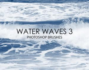 Free Water Waves Photoshop Brushes 3 Photoshop brush
