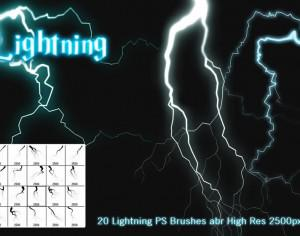 Lightning PS Brushes Photoshop brush