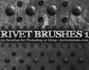 Rivet 1 Brushes from texturemate.com Photoshop brush
