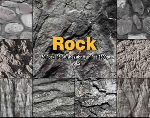 20 Rock Texture PS Brushes abr vol.5 Photoshop brush