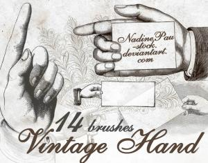 Vintage Hand Photoshop brush