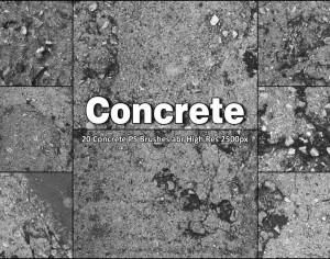 20 Concrete PS Brushes abr  Photoshop brush