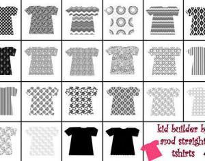 straight tshirts for kid builder series Photoshop brush