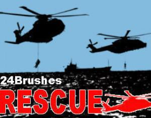 24 Rescue Helicopter Brushes Photoshop brush