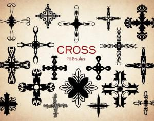 20 Cross PS Brushes abr.Vol.10 Photoshop brush