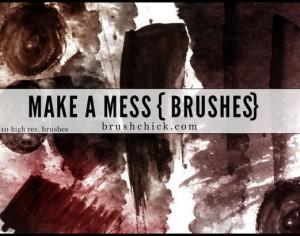 Make a Mess Grunge Brush Pack Photoshop brush